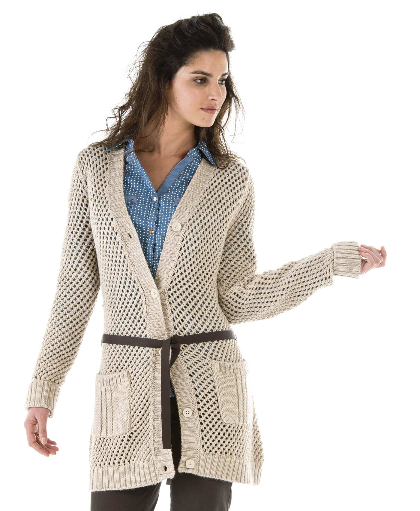 cardigan long femme beige en maille pull cardigan mode femme terre de marins. Black Bedroom Furniture Sets. Home Design Ideas
