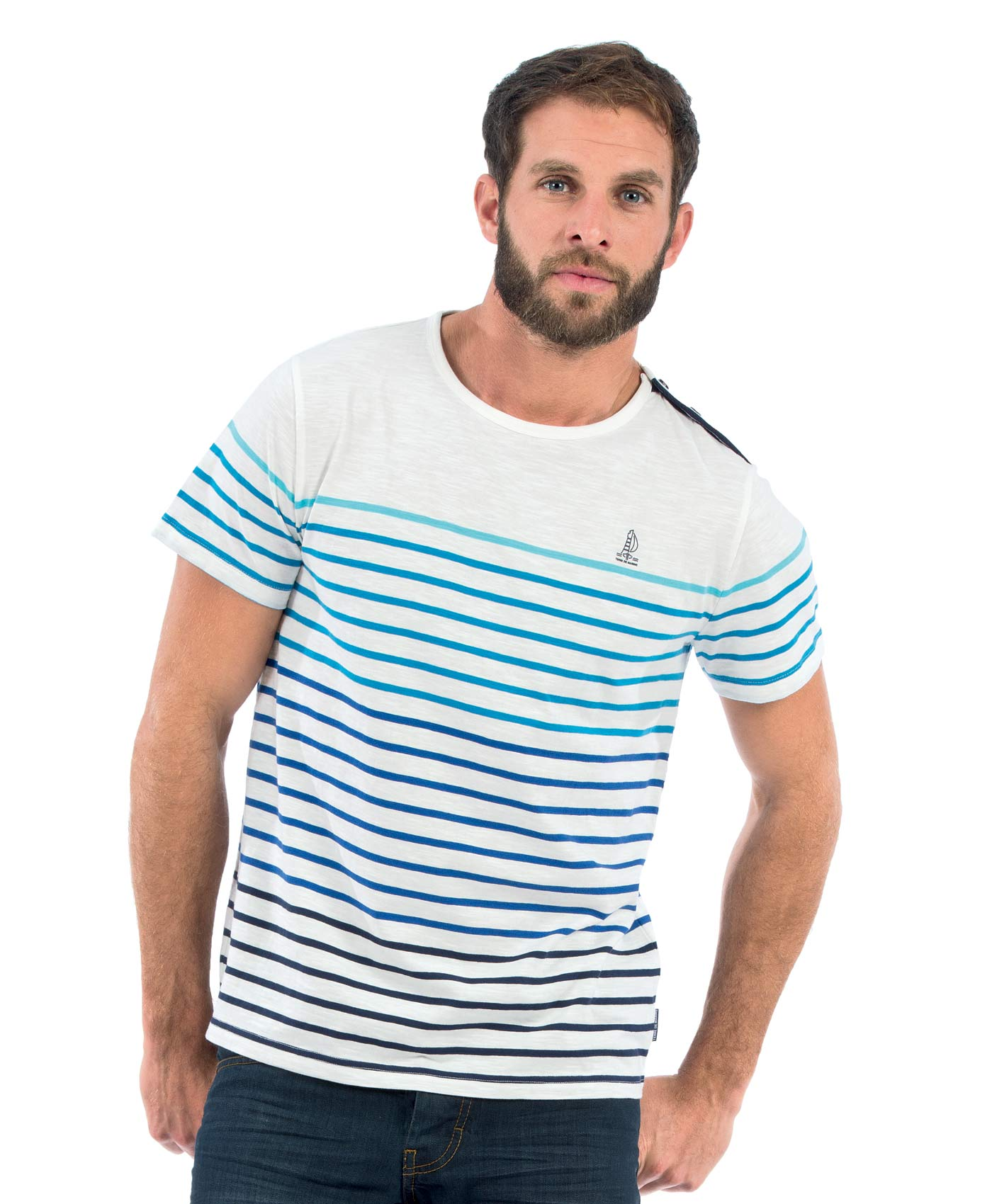 tee shirt manches longues homme ray multicolore t shirt. Black Bedroom Furniture Sets. Home Design Ideas