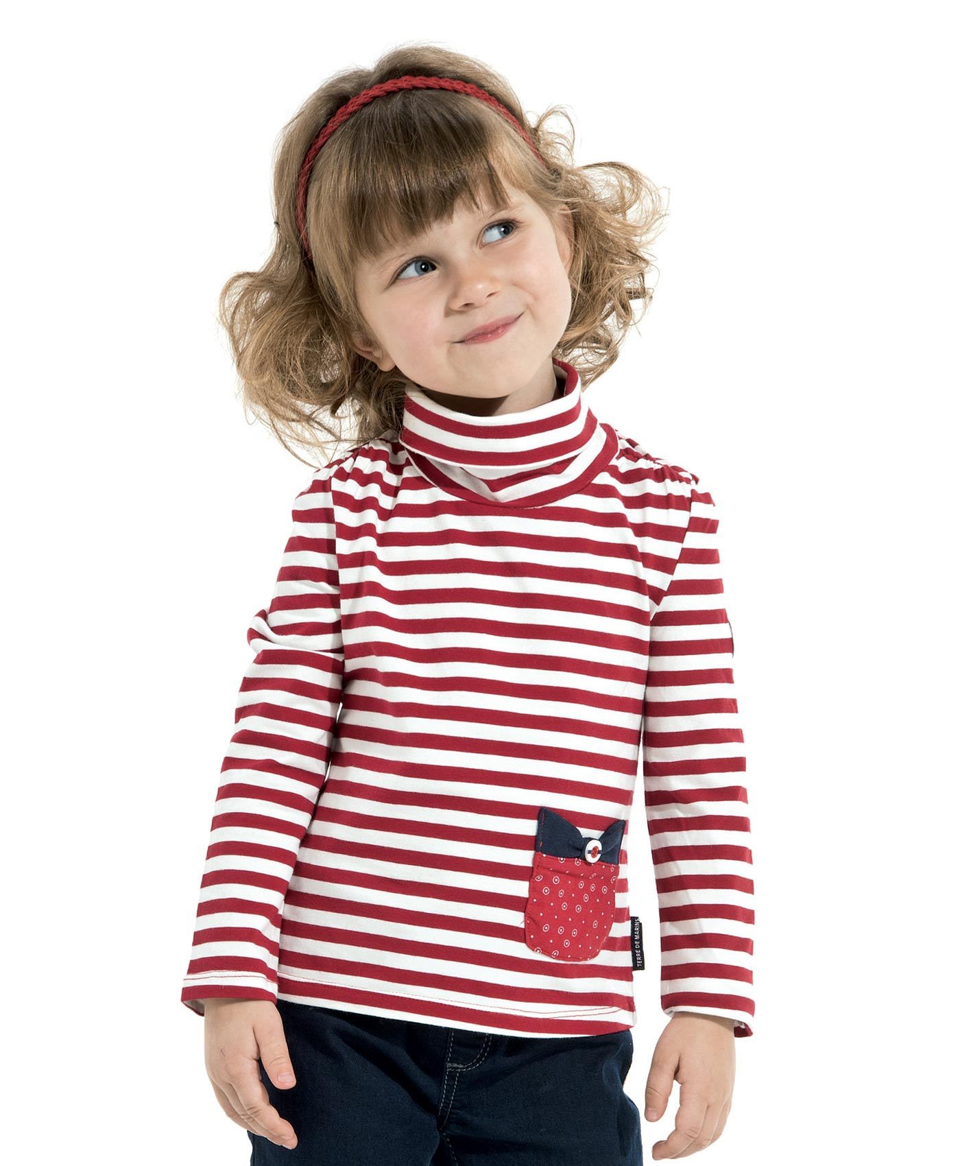 tee shirt manches longues fille ray rouge t shirt polo mode enfant fille terre de marins. Black Bedroom Furniture Sets. Home Design Ideas