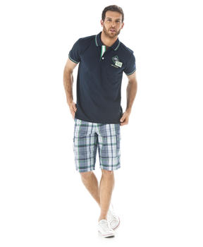Short bermuda homme mode homme terre de marins for Short a carreaux homme