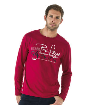 T-shirt homme rouge manches longues