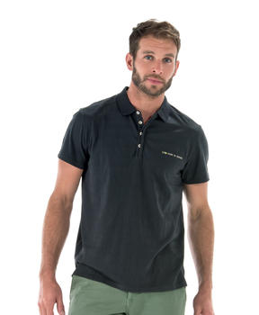 Polo homme gris anthracite manches courtes