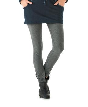 Legging femme gris chiné anthracite - Mode marine Femme