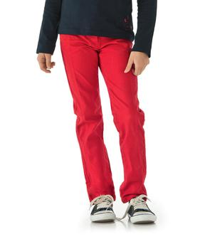 Pantalon 7/8 eme fille rouge orange - Mode marine Enfant fille