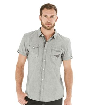 Chemise manches courtes homme vichy - Mode marine Homme