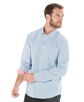 Chemise manches longues homme rayée - Mode marine Homme