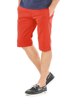 Bermuda long homme rouge corallin - Mode marine Homme