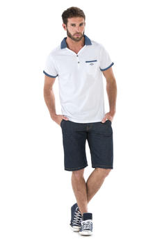 Essentiels Denim polo - Mode marine Nos looks